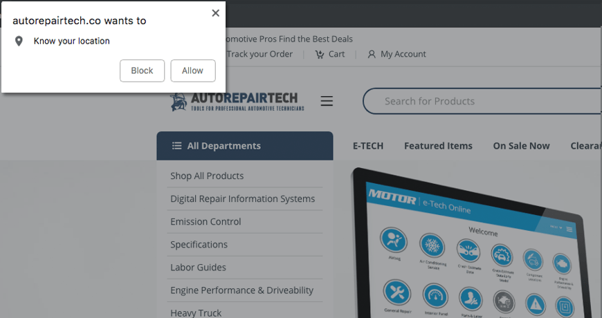 AutoRepairTech Know Your Location