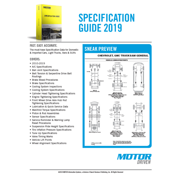 MOTOR Specification Guide At A Glance